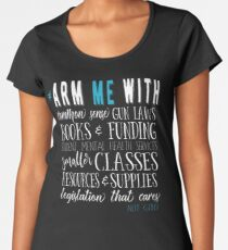 Arm Me With (#armmewith) Common Sense Gun Laws - white text Women's Premium T-Shirt