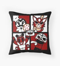 Inter Species Wrestling - Cast of Characters Throw Pillow