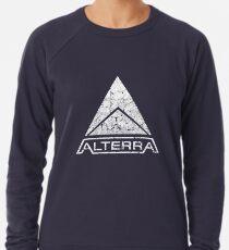 ALTERRA weißes Logo Leichter Pullover