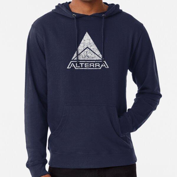 ALTERRA white logo Lightweight Hoodie