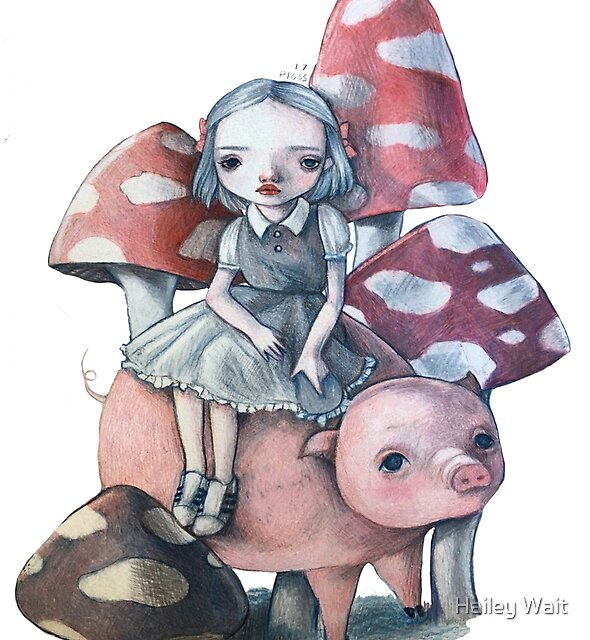 A Girl and Her Pig by pigss