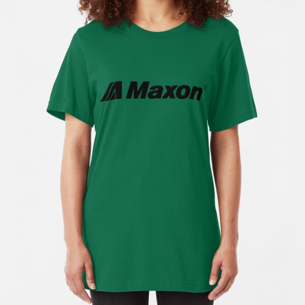 Maxon Logo-Black Slim Fit T-Shirt