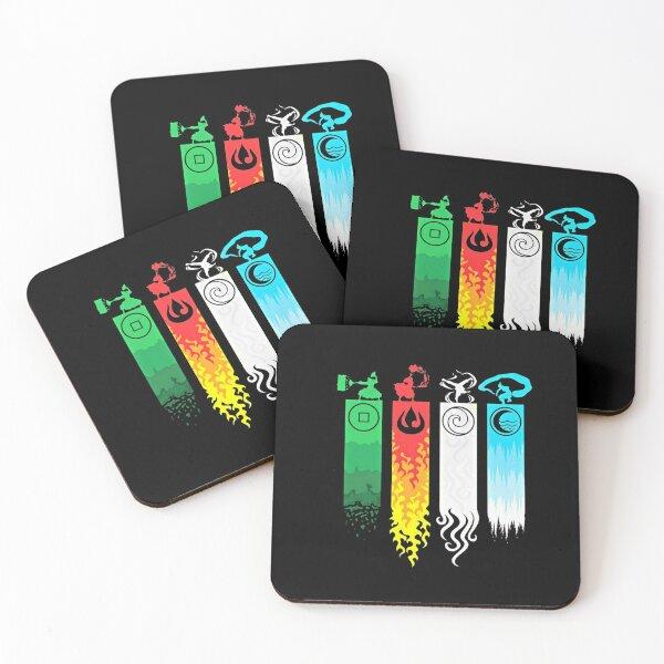 Elemental Bending: Avatar Coasters (Set of 4)
