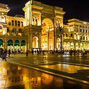 Piazza Del Duomo At Night Milan Italy Sticker By Brunobeach Redbubble