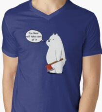Ice Bear Will Take Care of It - We Bare Bears Cartoon Men's V-Neck T-Shirt