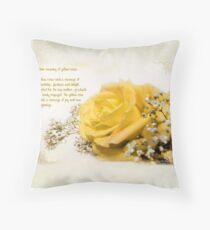Yellow rose Kissen