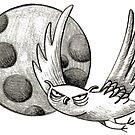 Mürrische Eule - Vollmond - Uhu - Käuzchen von JunieMond