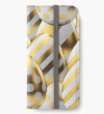 Golden Easter eggs iPhone Wallet/Case/Skin