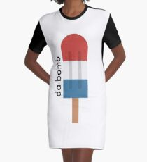 Bomb Popsicle is Da Bomb Graphic T-Shirt Dress