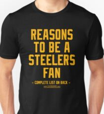 2b1c577f No Reasons To Be a Pittsburgh Steelers Fan, Steelers Suck, Funny Gag Gift  Slim