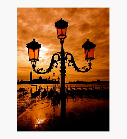 VENICE ON FIRE Photographic Print