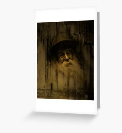 """What thoughts I have of you tonight, Walt Whitman..."" Greeting Card"