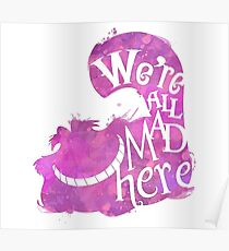 Alice in Wonderland (We're all mad here) Merch Poster