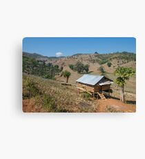 Burmese countryside in Hsipaw Canvas Print