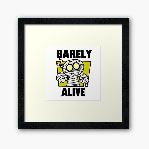 Barely Alive (colored version Framed Art Print