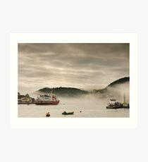 Dartmouth Harbour in the fog Art Print