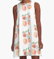 Call Me By Your Name - Peaches A-Line Dress