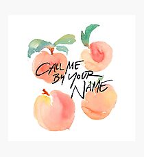 Call Me By Your Name - Peaches Photographic Print