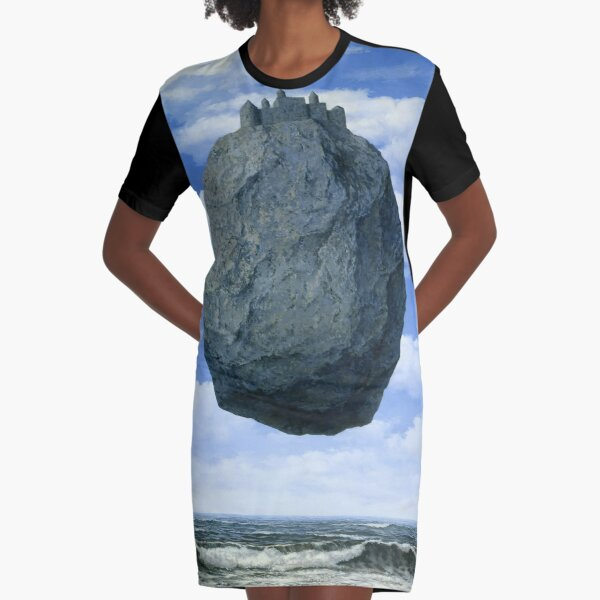 The Castle of the Pyrenees( Le Chateau de Pyrenees)-Rene Magritte Graphic T-Shirt Dress