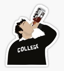 John Belushi College Sticker