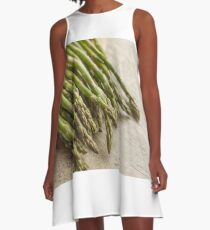 Fresh Asparagus A-Line Dress