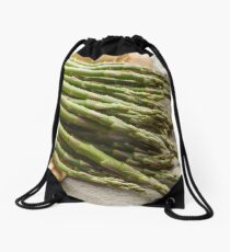 Fresh Asparagus Drawstring Bag
