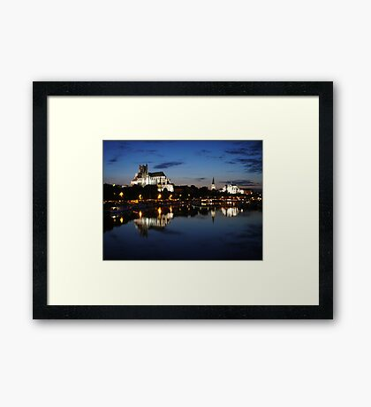 Auxerre by night Framed Print
