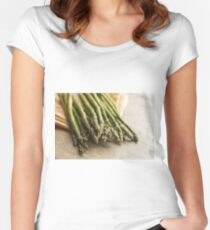 Fresh Asparagus Women's Fitted Scoop T-Shirt