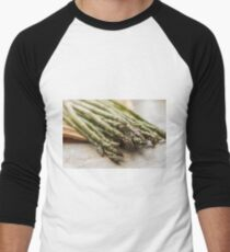 Fresh Asparagus Men's Baseball ¾ T-Shirt