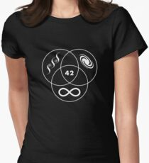 Hitchhikers Guide To The Galaxy 42 Women's Fitted T-Shirt