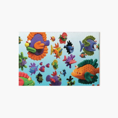 Fish in the Sea Art Board Print