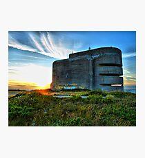 German Fire Control Tower Alderney Photographic Print