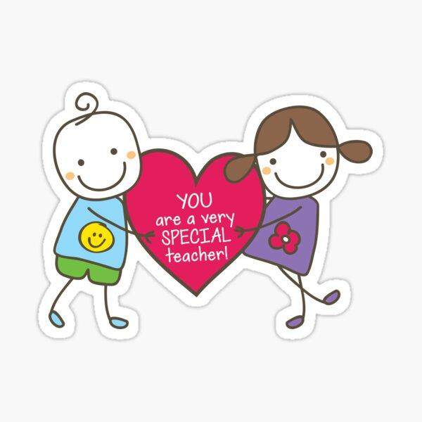 Teacher Appreciation Gifts - Pink Sticker