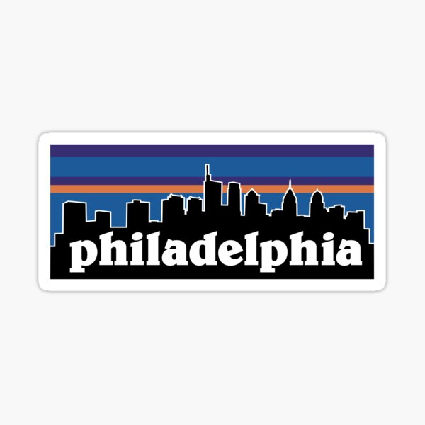 Philadelphia Sunset Skyline Design Sticker