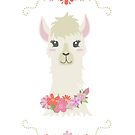 Floral Bust of a Llama by latheandquill
