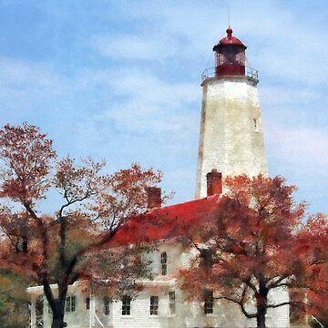 Lighthouse at Sandy Hook NJ by SudaP0408