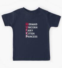 Mermaid Unicorn Fairy, Kitten Princess Kids Tee