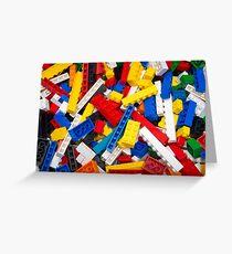 Lots of LEGO Blocks / Bricks Greeting Card