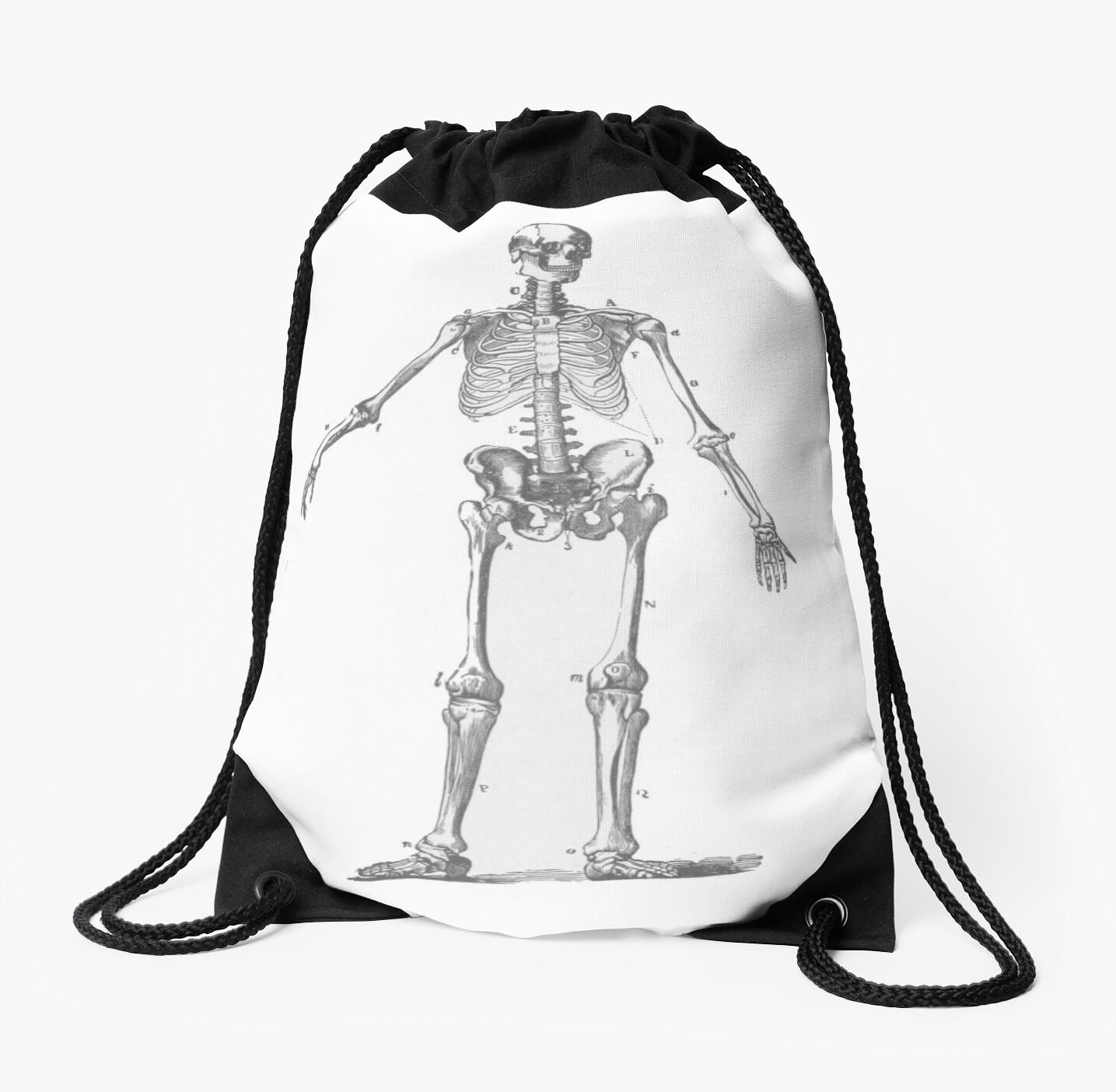 Mochilas de cuerdas «El esqueleto humano como un dibujo de lápiz» de ...