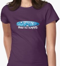 Free the Happy - Surf Women's Fitted T-Shirt