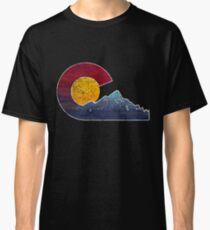 Colorado Flag Themed Mountain Scenery Classic T-Shirt