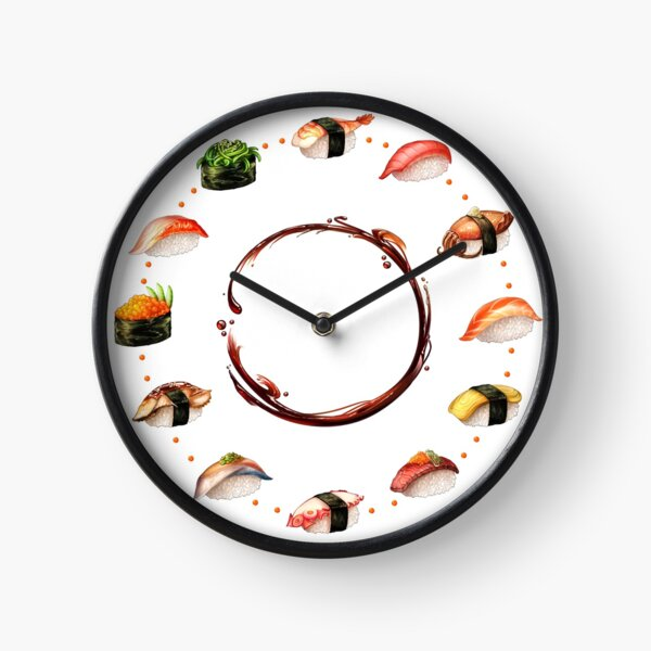 Nigiri, Please - The Sushi Menu You Can Wear! Clock