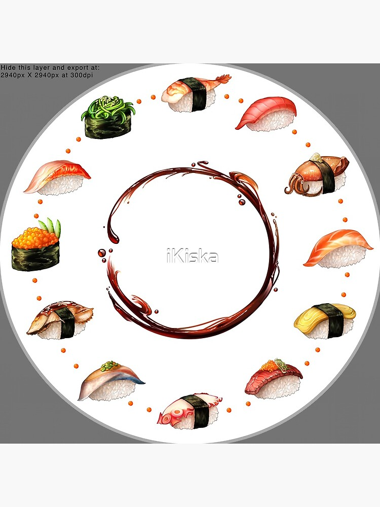 Nigiri, Please - The Sushi Menu You Can Wear! by iKiska