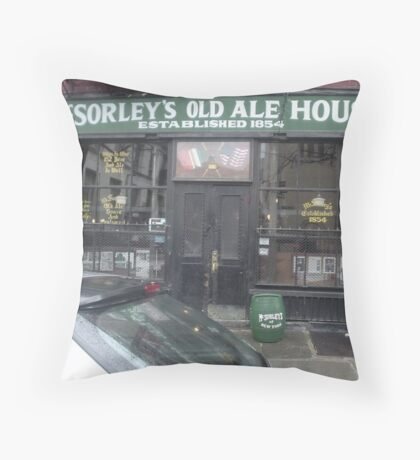 McSorley's Old Ale House established 1854 Throw Pillow