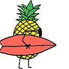 surfing pineapple by bkidesigns