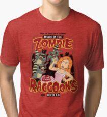 Zombie Raccoons Tri-blend T-Shirt