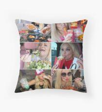 Trisha Paytas Eating Show Mukbang Queen Of Youtube Throw Pillow