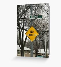 No outlet Bellaire Greeting Card