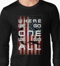 Q - QANON - WHERE WE GO ONE WE GO ALL (UPDATE read description) Long Sleeve T-Shirt