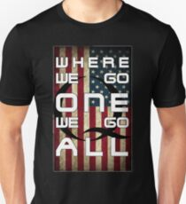 Q - QANON - WHERE WE GO ONE WE GO ALL (UPDATE read description) Unisex T-Shirt